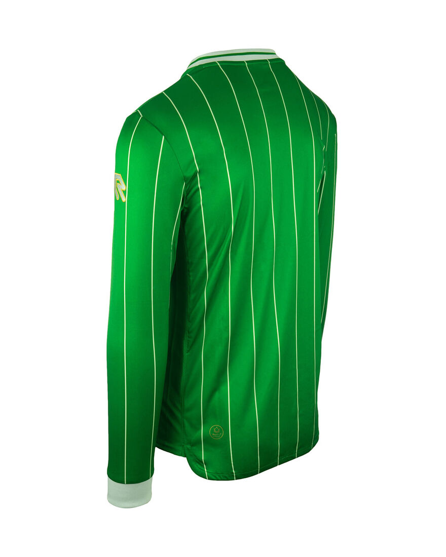Shirt Pinstripe LS, Green, hi-res