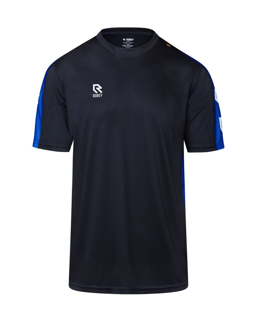 Performance Shirt, Black/Royal Blue, hi-res