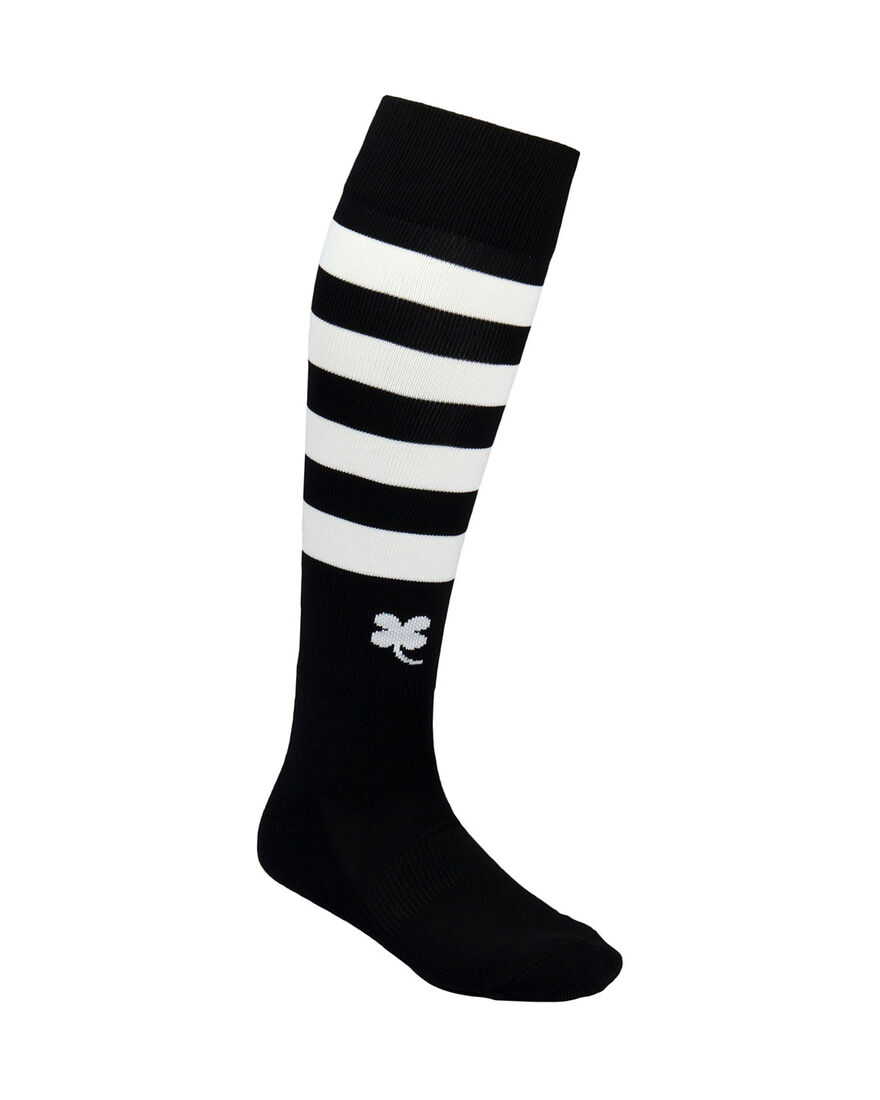 Ring Socks, Black/White Stripe, hi-res