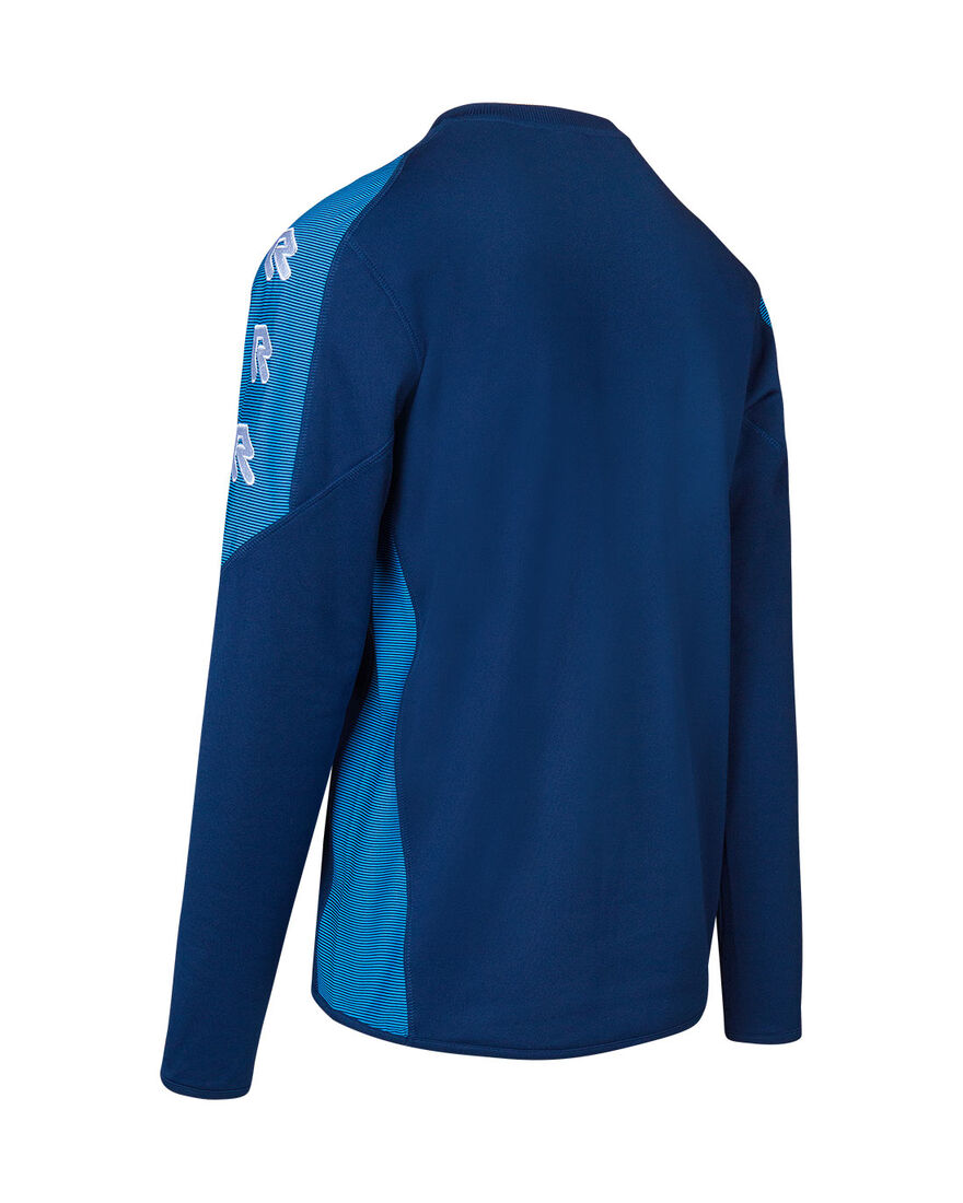Performance Sweater, Navy/Sky Blue, hi-res
