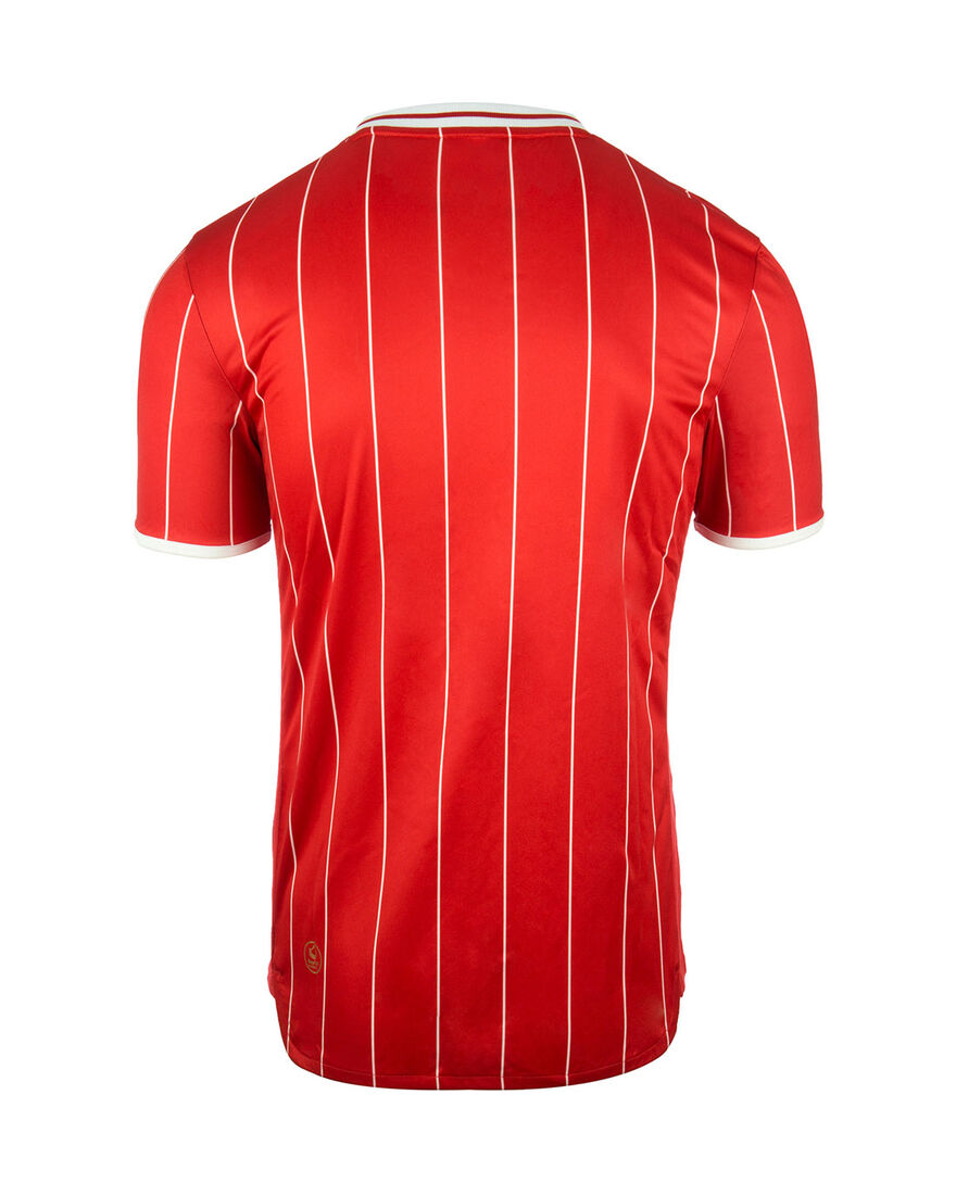 Shirt Pinstripe SS, Red, hi-res