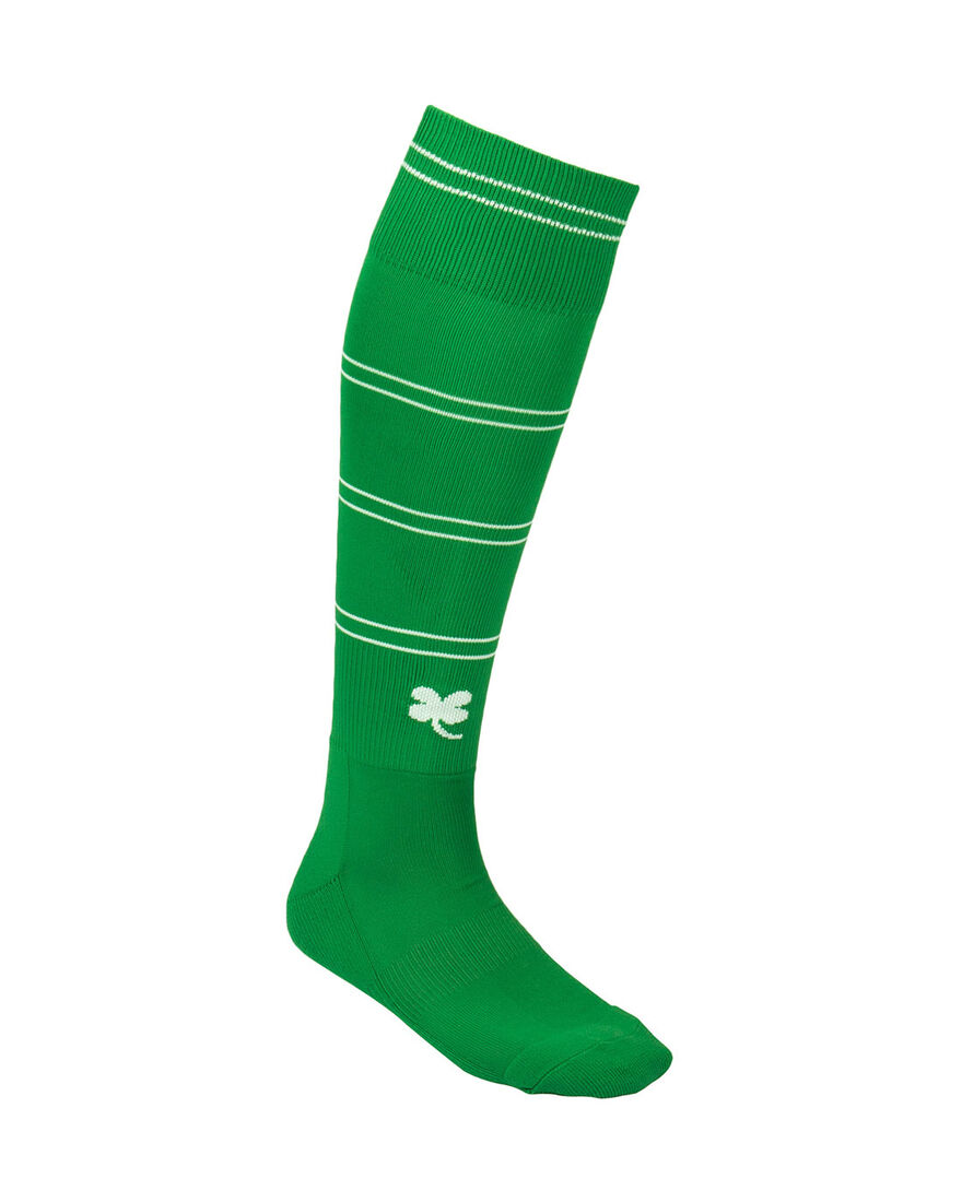 Sartorial Socks, Green/White Stripe, hi-res