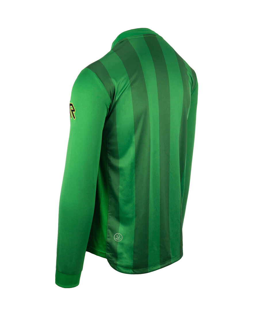 Shirt Winner LS, Green Stripe, hi-res