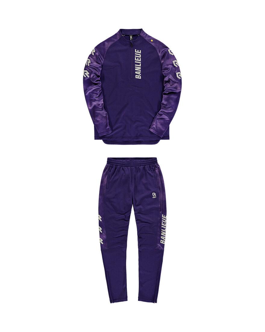 Robey x Banlieue Tracksuit - Purple/Grey, Purple, hi-res
