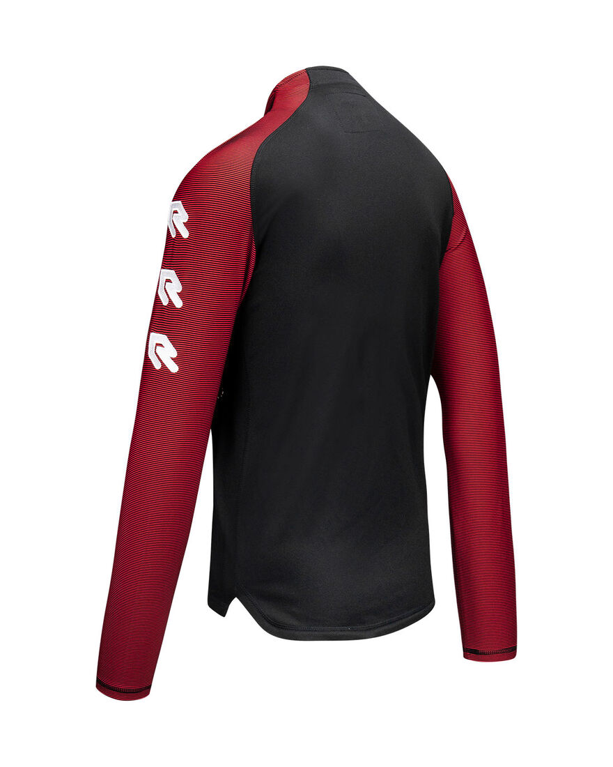 Performance Half-Zip Top, Black/Red, hi-res