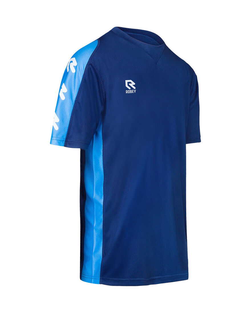 Performance Shirt, Navy/Sky Blue, hi-res