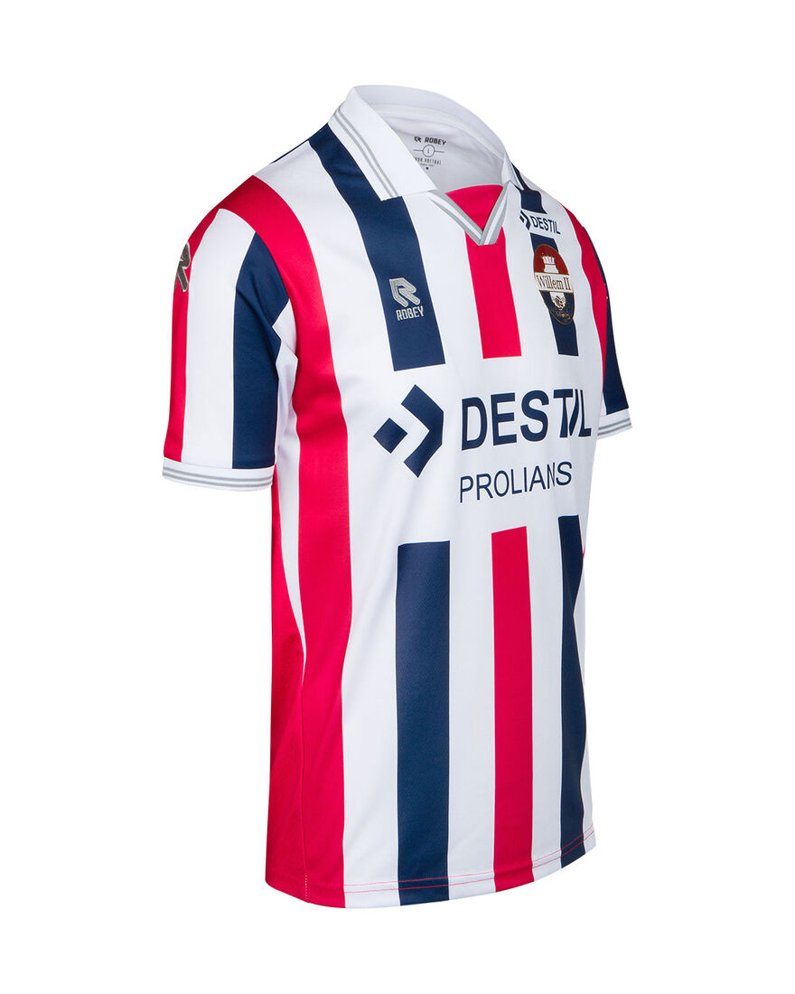 Willem II Match Shirt 20/21 SS, White/Navy/Red, hi-res