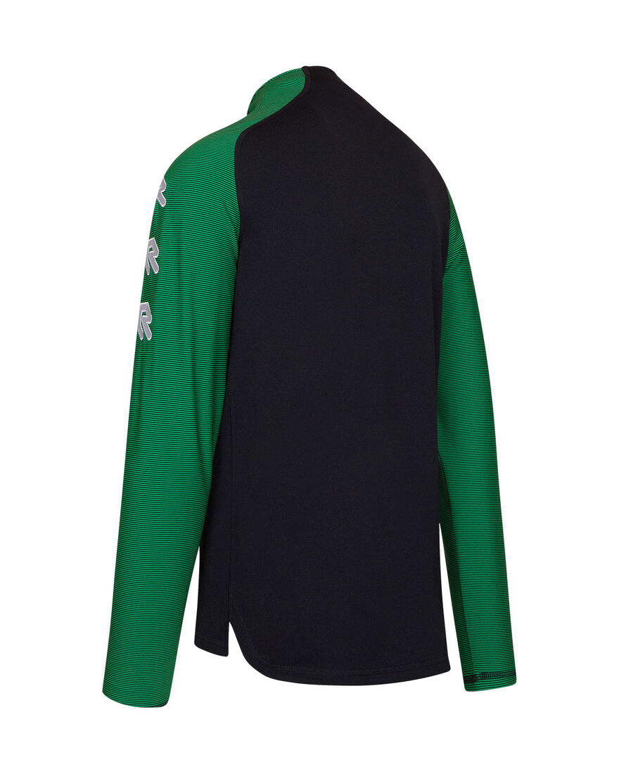 Performance Half-Zip Top, Black/Green, hi-res