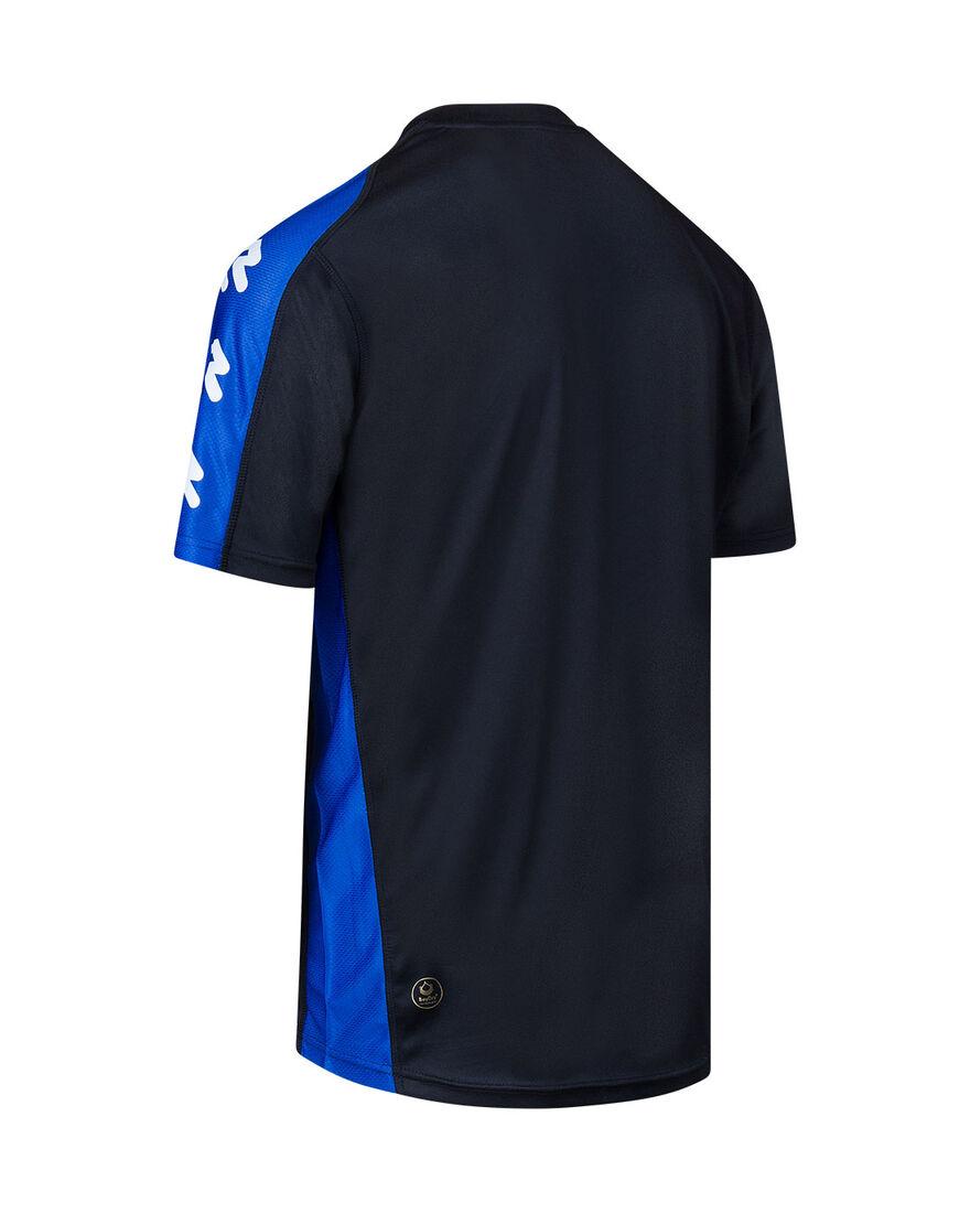Performance Shirt, Black/Royal Blue, hi-res