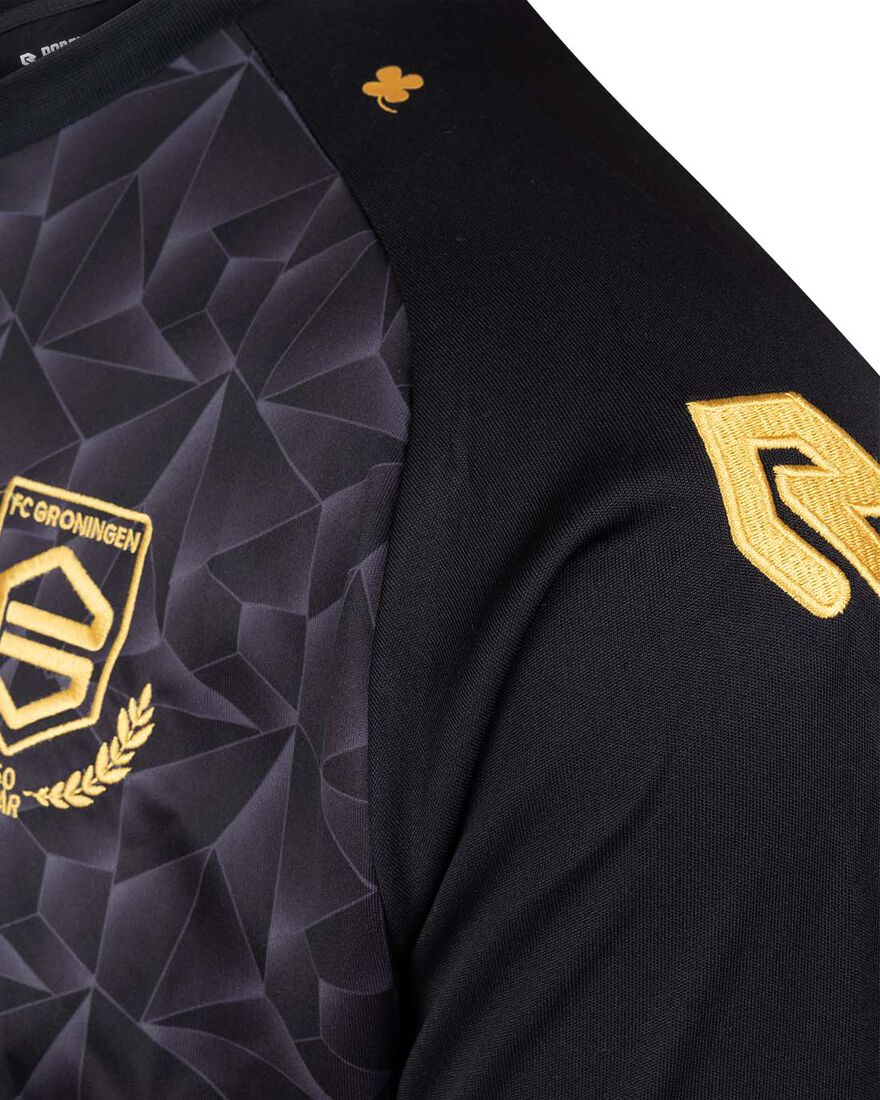 FC Groningen Performance Shirt 21/22, Black/Yellow, hi-res