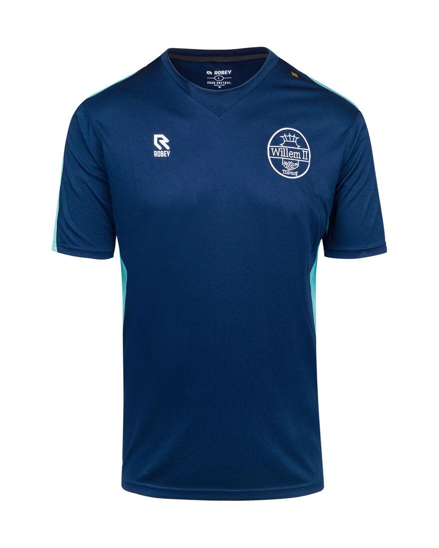 Willem II Performance Shirt 20/21, Navy/Mint, hi-res