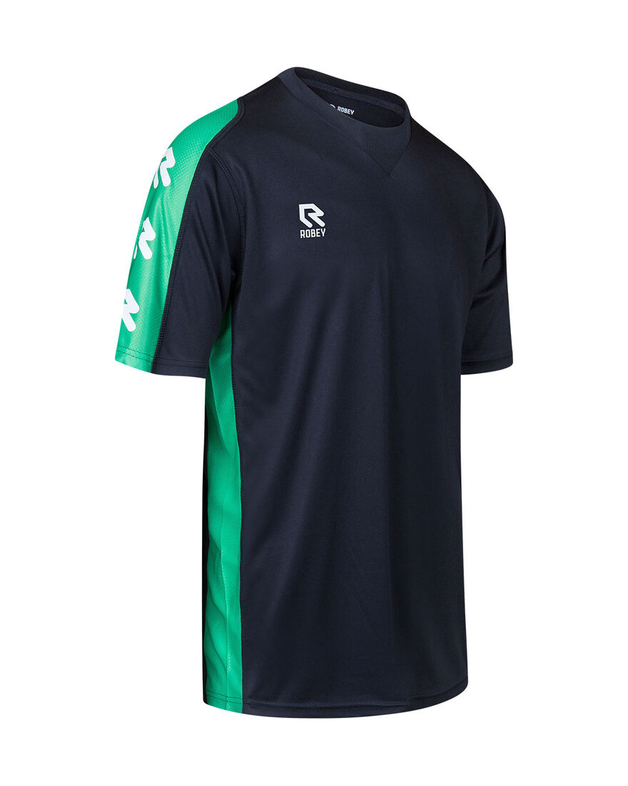 Performance Shirt, Black/Green, hi-res