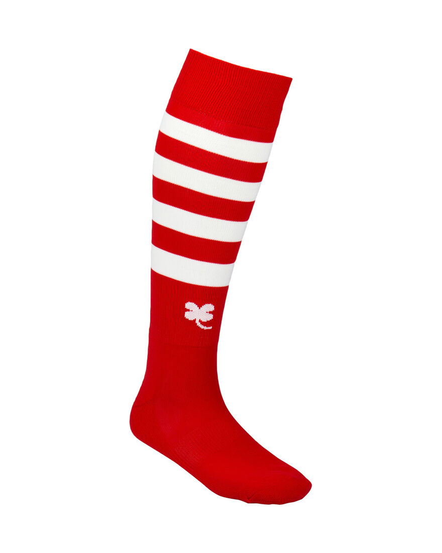Ring Socks, Red/White Stripe, hi-res