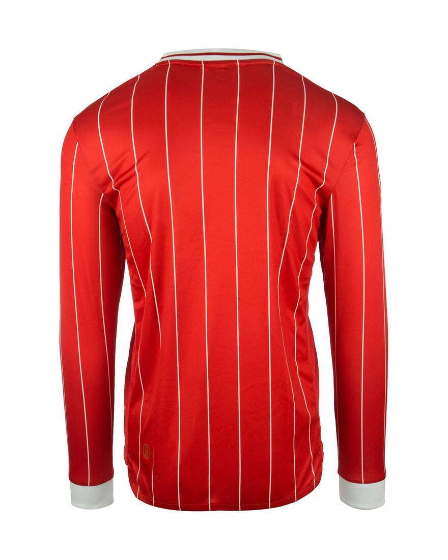 Shirt Pinstripe LS, Red, hi-res