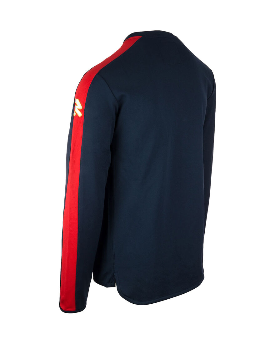 Performance Sweater, Navy/Red Stripe, hi-res