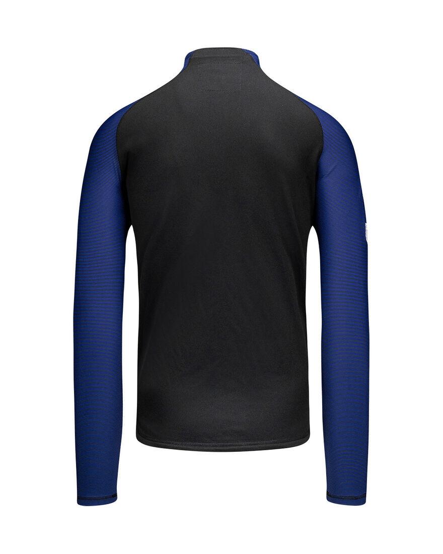 Performance Half-Zip Top, Black/Royal Blue, hi-res