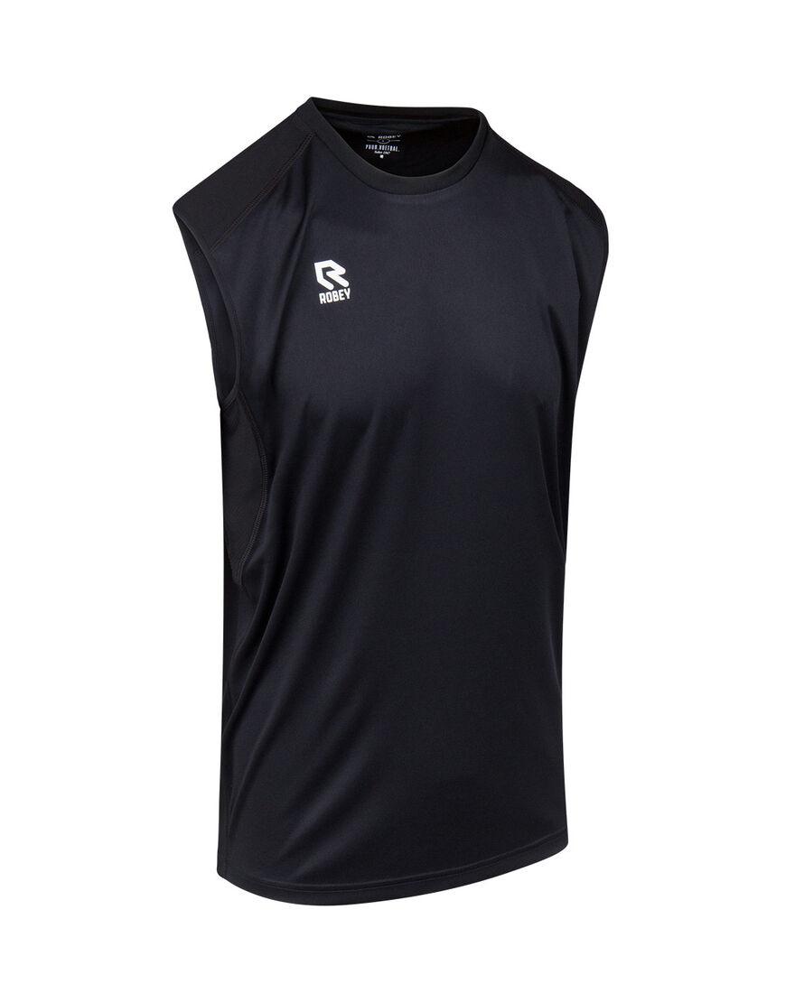 Performance Sleeveless Shirt, Black, hi-res