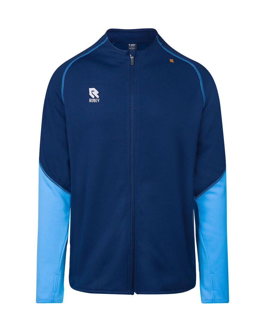 Performance Full-Zip Jacket, Navy/Sky Blue, hi-res