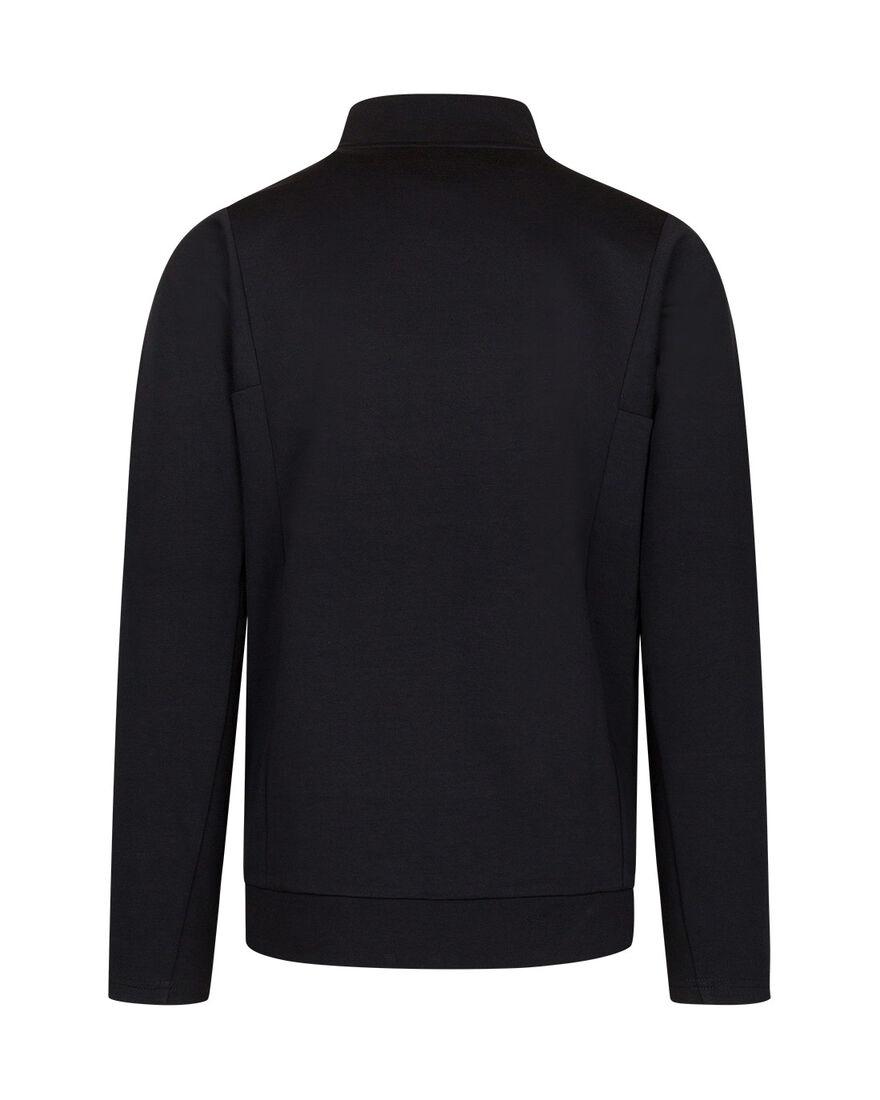 Off Pitch Cotton Half-Zip Top, Black, hi-res