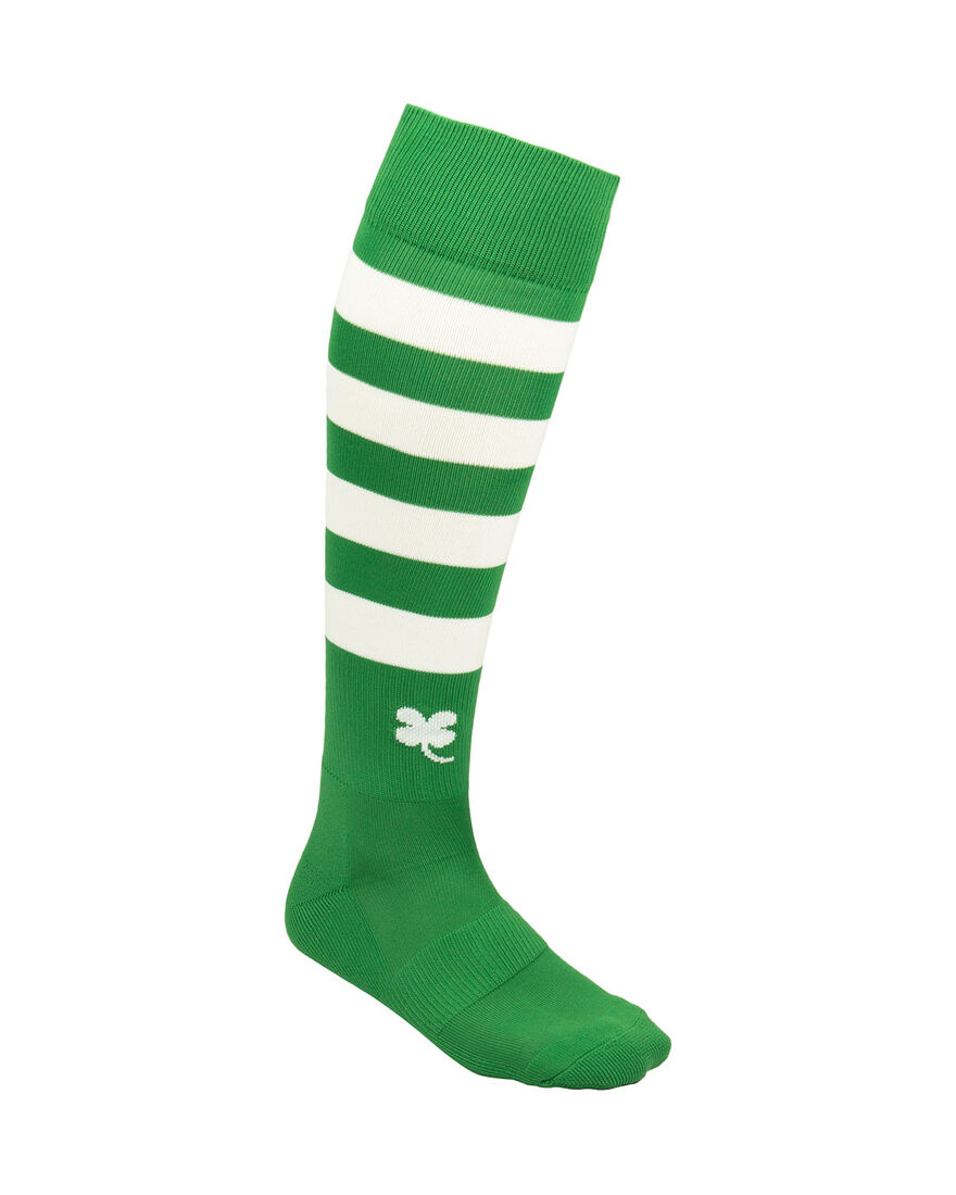 Ring Socks, Green/White Stripe, hi-res