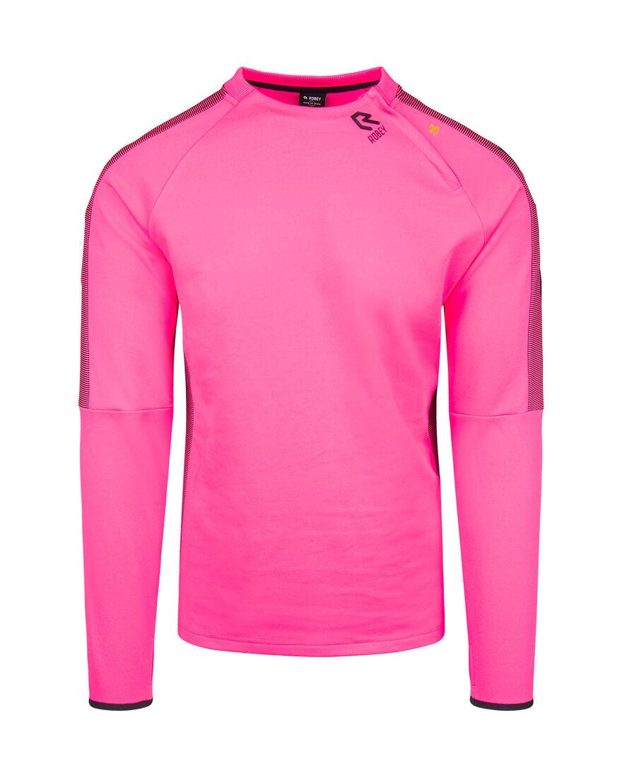 Performance Cross-Zip Top, Neon Pink, hi-res